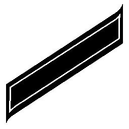 長方形の回転印刷紙無料アイコン