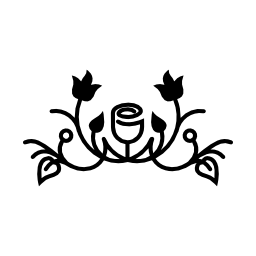 花葉と芽のブドウの木無料のアイコンを持つ花のデザイン