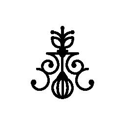 垂直方向の花柄のデザイン無料のアイコン
