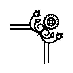コーナーの花柄のデザイン無料のアイコン