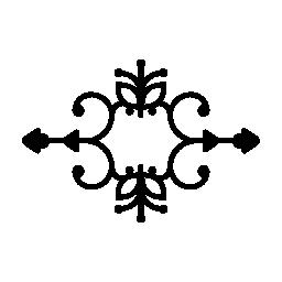 対称無料アイコンと花柄のデザイン