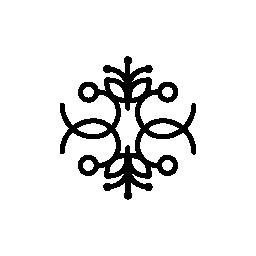 無料アイコンの垂直方向と水平方向の対称性と花柄のデザイン