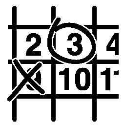 壁掛けカレンダーを閉じるとクロスして円形信号の無料アイコン