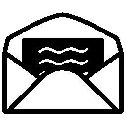 開いた封筒バックビュー無料アイコンの手紙