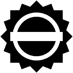 白い旗の無料のアイコンと黒の円形ラベル