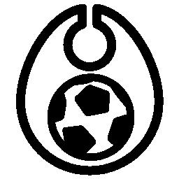 サッカー ボール イラストの無料アイコンと乳幼児のよだれかけ