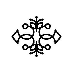 花柄装飾無料のアイコンをダブル対称性を持つ