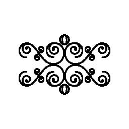 らせん状の無料のアイコンと花柄のデザイン