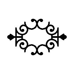 対称の花柄のデザイン無料のアイコン