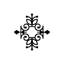 二重の繊細なシンメトリー デザイン無料のアイコンと花柄のデザイン