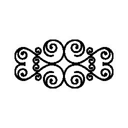 らせん状の無料のアイコンの花柄のデザイン