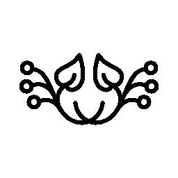 水平対称無料アイコンの花柄のデザイン
