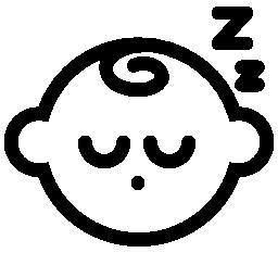 眠っている赤ちゃん無料アイコン