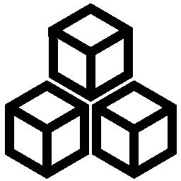 正方形のブロックの輪郭の無料アイコン