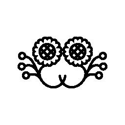 ひまわりミラー効果の設計の花のつぼみ無料アイコン