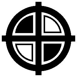 黒と白の十字、バリアント無料アイコン