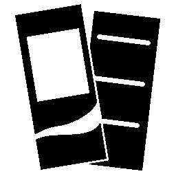 長い長方形の印刷カードのシルエットの無料のアイコン