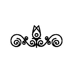 花のつぼみの概要およびツル デザイン無料のアイコン