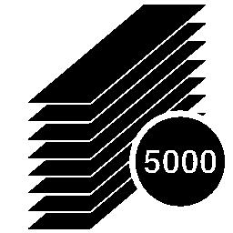 用紙スタック シルエット 5000 個無料アイコン