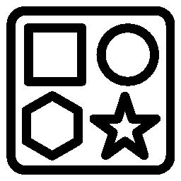 赤ちゃんの図形ボックス グッズ無料アイコン