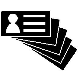 ビジネス カード杭無料アイコン