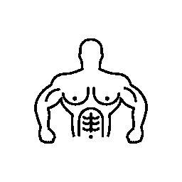 体操選手の筋肉胴概要無料アイコン