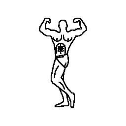 筋肉の男が彼の筋肉の無料アイコンを表示