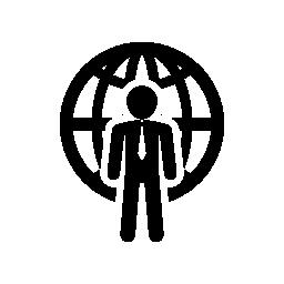 国際的なビジネスマン無料アイコン