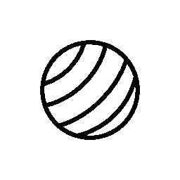 並列ストライプ ジム ボール無料アイコン