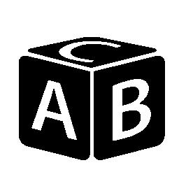 文字ブロックおもちゃ無料アイコン
