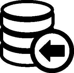 データベースのバックアップ無料アイコン
