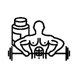 ボディービルダー キャリング ダンベル無料アイコン