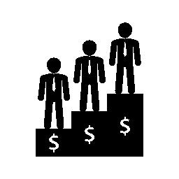 最高所得者のビジネス無料アイコン