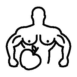 アップル社の無料のアイコンを持つ男性の筋肉概要