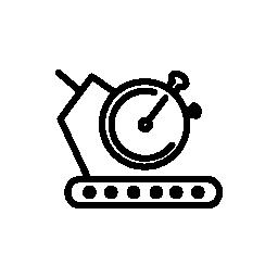 トレッドミル マシン タイマー無料アイコン