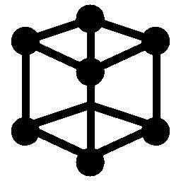キューブ分子無料アイコン