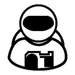 宇宙飛行士無料アイコン