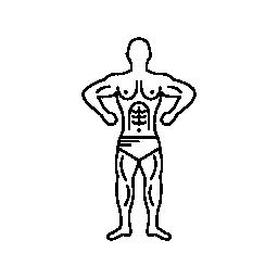 筋肉ボディービルダー概要無料アイコン