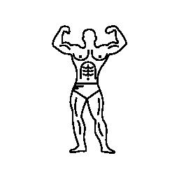 無料のアイコンを屈曲ボディービルダーの筋肉の概要