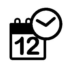 カレンダー時計無料アイコン