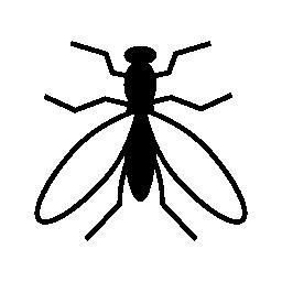 トップ ビューから蚊の無料のアイコン