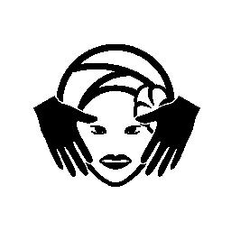 スパ フェイシャルトリートメント マスクやマッサージ無料アイコン