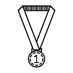 メダル リボン無料アイコンのぶら下げ