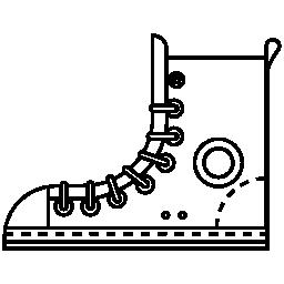 貨物ブーツ白詳細無料アイコン