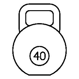 無料アイコンのハンドルが付いている円形重量