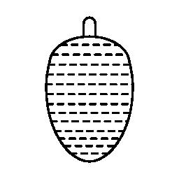 楕円形の形をした飾り無料アイコン