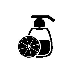 クエン酸フルーツ無料アイコンの香りボトル