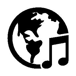 地球音楽無料アイコン