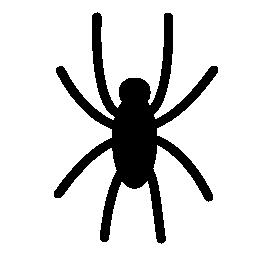 クモの黒い図形無料アイコン