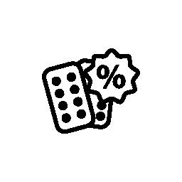 薬の割引無料アイコン